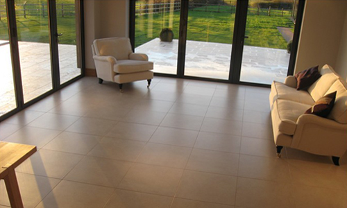 porcelain floor clean